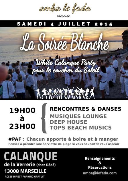 La soirée blanche White Calanque Party pour le coucher du Soleil